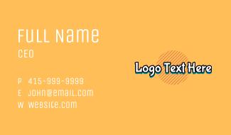 Graffiti Wordmark Business Card