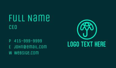 Green Globe Umbrella  Business Card