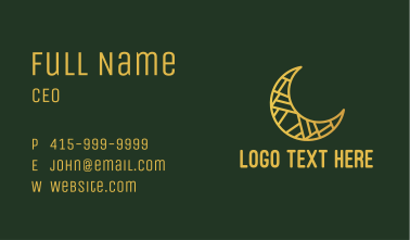 Crescent Moon Decoration Business Card