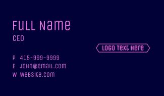 Modern Pastel Wordmark Business Card