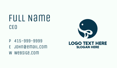 Blue Fish Circular Badge Business Card