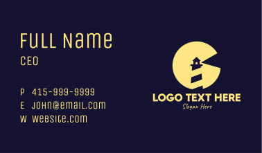 Night Lighthouse Business Card