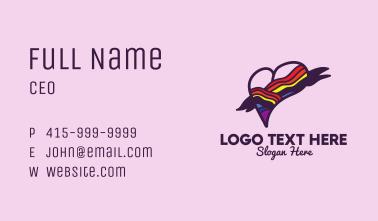 Festive Rainbow Heart Banner Business Card
