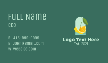 Orange Citrus Boat Business Card