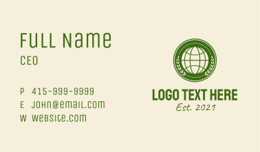 Green Global Foundation  Business Card