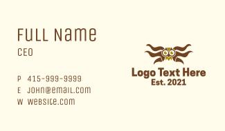 Barn Owl Wings Business Card