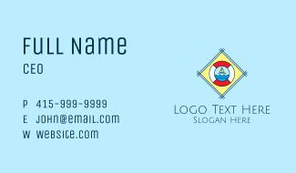 Sail Boat Lifebuoy  Business Card