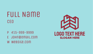 Red Brick House Abstract Business Card