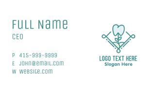 Dental Tooth Flower Business Card