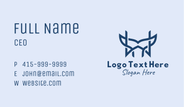Whale Tail Letter W Business Card