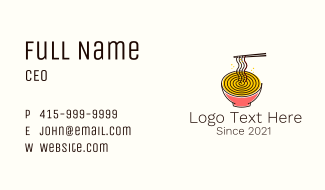 Noodle Swirl Bowl  Business Card