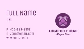 Purple Tulip Business Card