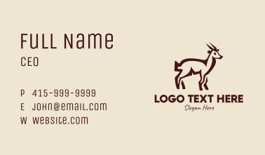Brown Farm Goat  Business Card
