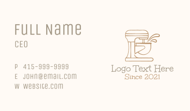Hand Drawn Stand Mixer Business Card