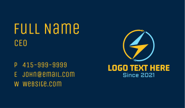 Electric Cable Bolt Business Card