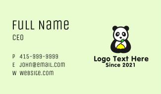 Panda Lemon Mascot  Business Card