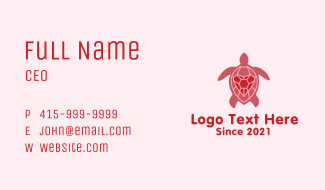 Heart Tortoise  Business Card