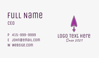 Violet Spearhead  Business Card