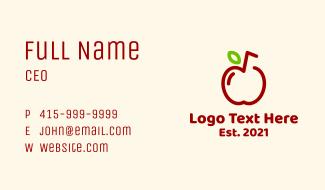 Apple Fruit Juice Business Card