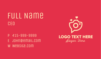 Love Camera Chat Business Card