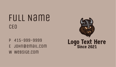 Angry Barbarian Warrior  Business Card