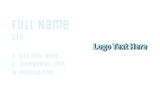 Light Blue Wordmark Business Card