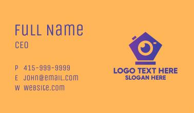Modern Geometric Camera Business Card