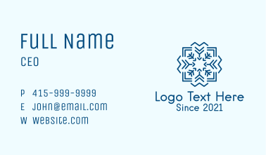 Winter Sowflake Pattern Business Card