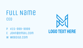 Geometric Letter M Business Card