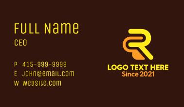 Letter R Construction Business Card