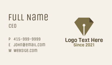 Paper Pen Page  Business Card