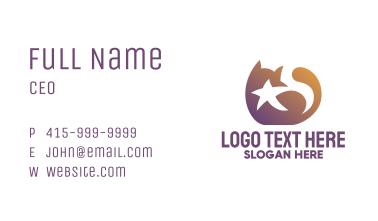 Gradient Star Cat Business Card