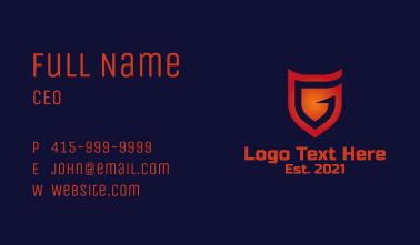 Digital Shield Letter G Business Card