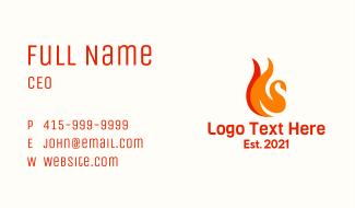Flaming Bird Business Card