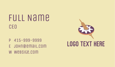 Donut Rolling Pin  Business Card