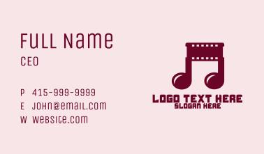 Music Video Film Business Card