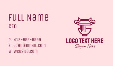 Noodle House Temple Business Card
