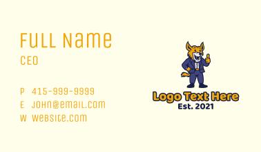 Jackal Businessman Mascot Business Card