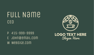 Organic Coffee Badge Business Card