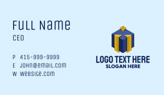 Modern Gift Box Business Card