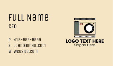 Vintage Photography Camera  Business Card