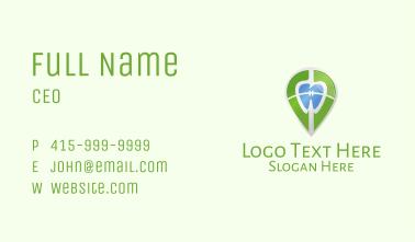 Dental Braces Location Pin Business Card