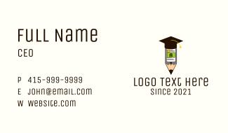 Graduation Cap Mobile Class Business Card