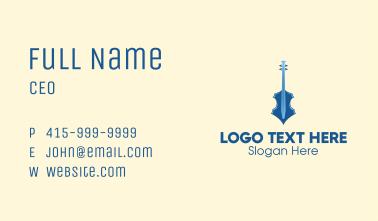 Modern Blue Violin Business Card