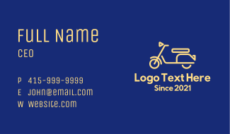 Electric Scooter Tour  Business Card