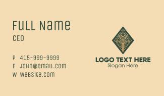 Diamond Tree Emblem Business Card