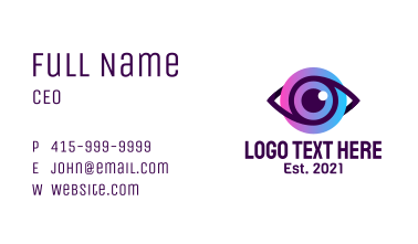 Corporate Eyes  Business Card