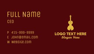 Yellow Violin Music Business Card
