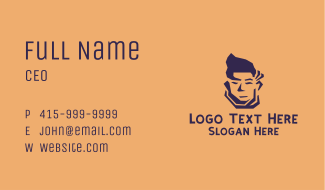Man Model Face Business Card