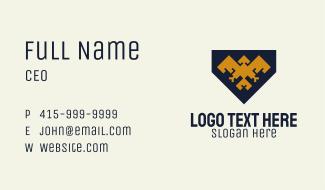 Geometric Bird Banner Business Card